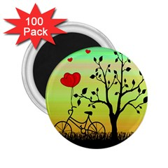 Love Sunrise 2 25  Magnets (100 Pack)  by Valentinaart