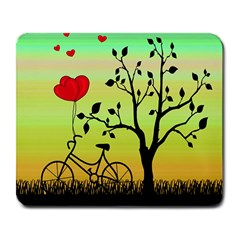 Love Sunrise Large Mousepads by Valentinaart