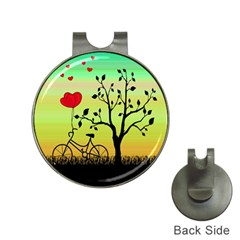 Love Sunrise Hat Clips With Golf Markers by Valentinaart