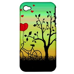 Love Sunrise Apple Iphone 4/4s Hardshell Case (pc+silicone) by Valentinaart