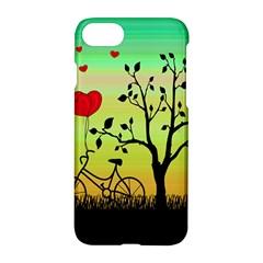 Love Sunrise Apple Iphone 7 Hardshell Case by Valentinaart