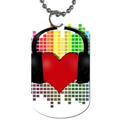 Music Dog Tag (one Side) by Valentinaart
