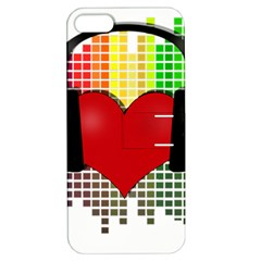 Music Apple iPhone 5 Hardshell Case with Stand by Valentinaart