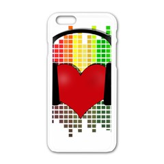 Music Apple Iphone 6/6s White Enamel Case by Valentinaart