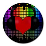 Love Music Round Mousepads Front
