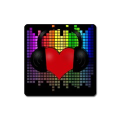 Love Music Square Magnet by Valentinaart
