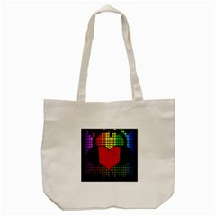 Love Music Tote Bag (cream) by Valentinaart