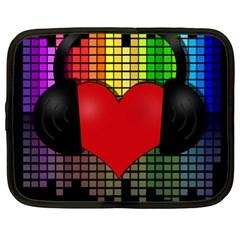 Love Music Netbook Case (xl)  by Valentinaart