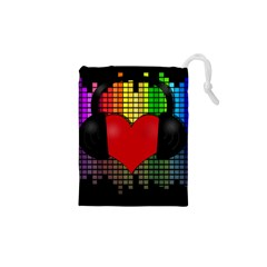 Love Music Drawstring Pouches (xs)  by Valentinaart