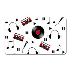Music Pattern Magnet (rectangular) by Valentinaart
