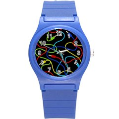 Audio Cables  Round Plastic Sport Watch (s) by Valentinaart