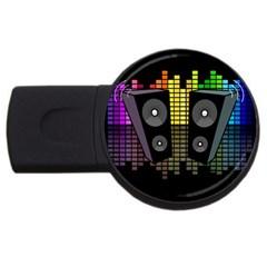 Loudspeakers  Usb Flash Drive Round (4 Gb) by Valentinaart