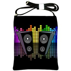 Loudspeakers  Shoulder Sling Bags by Valentinaart