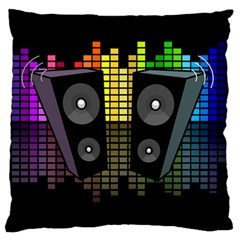 Loudspeakers  Large Flano Cushion Case (two Sides) by Valentinaart