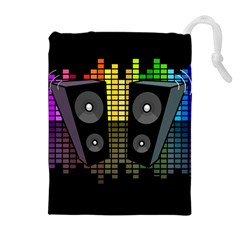 Loudspeakers  Drawstring Pouches (extra Large) by Valentinaart