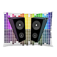 Loudspeakers   Transparent Pillow Case by Valentinaart