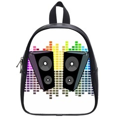 Loudspeakers   Transparent School Bags (small)  by Valentinaart