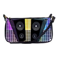 Loudspeakers   Transparent Shoulder Clutch Bags by Valentinaart