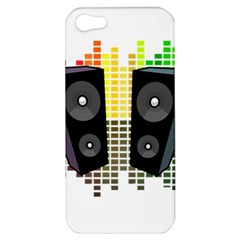 Loudspeakers   Transparent Apple Iphone 5 Hardshell Case by Valentinaart