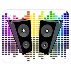 Loudspeakers   Transparent Double Sided Flano Blanket (medium)  by Valentinaart