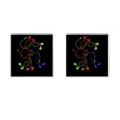 Colorful Earphones Cufflinks (square) by Valentinaart