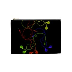 Colorful Earphones Cosmetic Bag (medium)  by Valentinaart