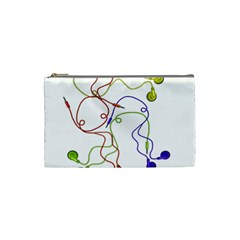 Colorful Earphones  Cosmetic Bag (small)  by Valentinaart