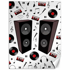 Loud Music Canvas 12  X 16   by Valentinaart