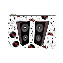 Loud Music Cosmetic Bag (large)  by Valentinaart