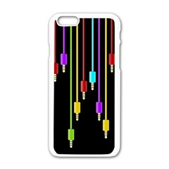 Plug In Apple Iphone 6/6s White Enamel Case by Valentinaart