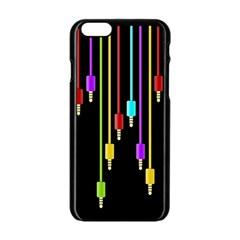 Plug In Apple Iphone 6/6s Black Enamel Case by Valentinaart