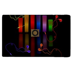 Energy Of The Sound Apple Ipad 3/4 Flip Case by Valentinaart