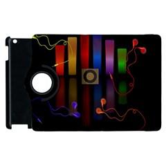 Energy Of The Sound Apple Ipad 2 Flip 360 Case by Valentinaart