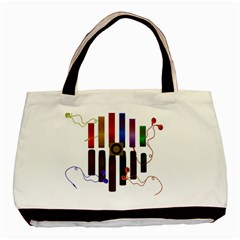 Energy Of The Sound Basic Tote Bag (two Sides) by Valentinaart