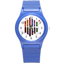 Energy Of The Sound Round Plastic Sport Watch (s) by Valentinaart