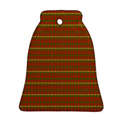 Fugly Christmas Xmas Pattern Bell Ornament (two Sides) by Nexatart