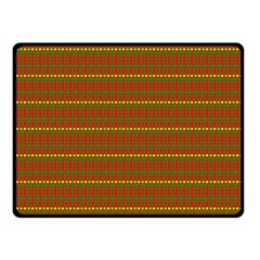 Fugly Christmas Xmas Pattern Double Sided Fleece Blanket (small)