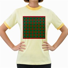 Geometric Patterns Women s Fitted Ringer T Shirts by Nexatart