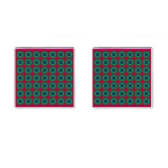 Geometric Patterns Cufflinks (square) by Nexatart
