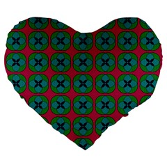 Geometric Patterns Large 19  Premium Flano Heart Shape Cushions by Nexatart