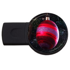 Glass Ball Decorated Beautiful Red Usb Flash Drive Round (4 Gb)