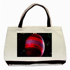 Glass Ball Decorated Beautiful Red Basic Tote Bag (two Sides) by Nexatart
