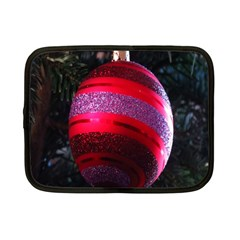 Glass Ball Decorated Beautiful Red Netbook Case (small)  by Nexatart