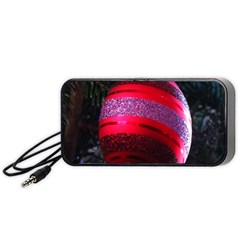 Glass Ball Decorated Beautiful Red Portable Speaker (black)