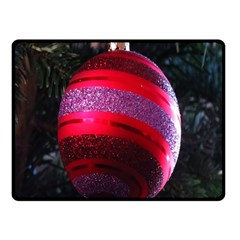 Glass Ball Decorated Beautiful Red Double Sided Fleece Blanket (small)  by Nexatart