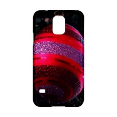 Glass Ball Decorated Beautiful Red Samsung Galaxy S5 Hardshell Case