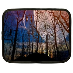 Full Moon Forest Night Darkness Netbook Case (xl)