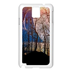 Full Moon Forest Night Darkness Samsung Galaxy Note 3 N9005 Case (white)