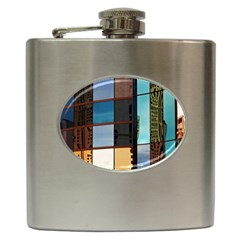 Glass Facade Colorful Architecture Hip Flask (6 oz) by Nexatart