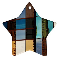 Glass Facade Colorful Architecture Star Ornament (two Sides)